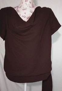 S.L. Fashion Chocolate Side Tie Top Sz 14 Plus